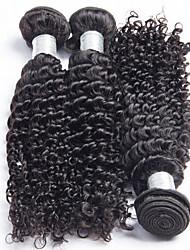 3Pcs/Lot Brazilian Virgin Kinky Curly Hair 100% Unprocessed Kinky Curly Virgin Hair Weaves Brazilian Kinky Curly