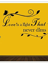 Love Is A Light That Never Dims Diy Pvc Wall Stickers Living Room Pegatinas De Pared Home Decor Decoration