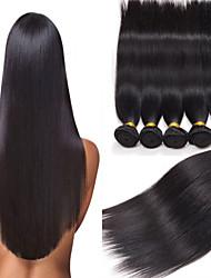 4pcs cabelo humano brasileiro cabelo liso tece cor natural do cabelo virgem 8-26 polegadas