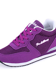 Women's Shoes Tulle Wedge Heel Wedges / Closed Toe Fashion Sneakers / Athletic Shoes Outdoor / Casual Purple / White