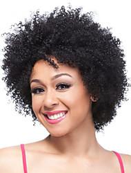 """8 """"brasileño peluca virginal corto y rizado sin tapa cabello con ninguna explosión para las mujeres negras"""