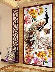 diy 5d ronde diamant schilderij kruissteek kit rijke bloemen pauwen pioen schilderij diamanten borduurwerk woninginrichting