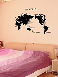 Map Of The World 3D Crystal Acrylic Three-Dimensional Wall Stickers Living Room Sofa Background Wall Stickers