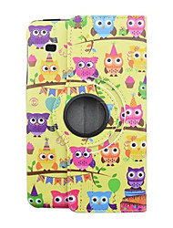 animal cartoon pu étui en cuir de couverture flip pour Samsung Galaxy Tab 8.0 e T377 tablette coque de protection 8 pouces