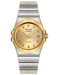GUANQIN High-end Gold-plated 18K Mens Business Watch Automatic Mechanical Men Waterproof Watch