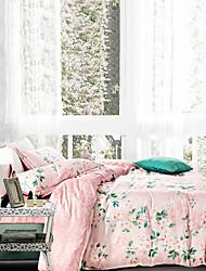 100% Tencel Soft Bedding Sets Queen King Size print Duvet Cover Set