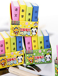 8PCS Cute Cartoon Textbooks Rubber Color Books(Style random)