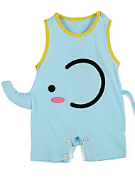 Girl's Blue Clothing Set,Cartoon Cotton Summer / Spring