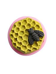 Bee celular silicona jabón hecho a mano / torta / el molde del chocolate