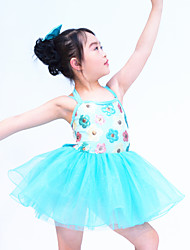 Kids' Dancewear Outfits Children's Performance Organza / Sequined / Lycra Ruffles / Sequins As Picture Ballet / Modern Dance / Performance