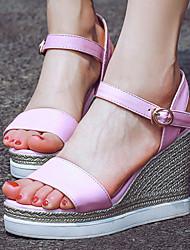 Women's Shoes Wedge Heel/Platform/Sling back/Open Toe Wedges Sandals Dress Yellow/Pink