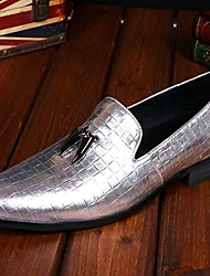 Men's Shoes Amir Pure Manual Silver Flash Stage Show Wedding / Evening Party Comfort Cowhide Leather Loafers