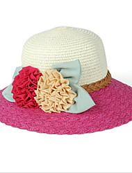 Unisex Sombrero de Paja Vintage / Bonito / Fiesta / Trabajo / Casual-Primavera / Verano / Otoño / Invierno / Todas las Temporadas-Paja
