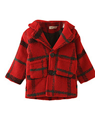 Girl's Red Jacket & Coat,Check Cotton Winter