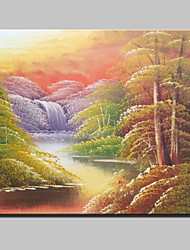 Mini Size Hand-Painted Landscape Modern Oil Painting On Canvas One Panel Ready To Hang
