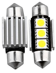 2 36mm 3 SMD LED Innen canbus Birne 12v Girlande