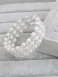 Bracelet Grappe Argenté / Perle Perle Femme