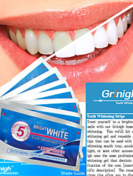 Grinigh Professional Teeth Whitening Gel Strips with Advanced Seal Technology | 7 Treatments, mint flavor