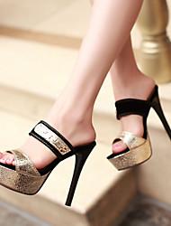 Women's Shoes Heel Heels / Peep Toe / Platform / Slippers Sandals / Heels / Clogs & MulesParty & Evening / 920