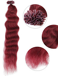 """neitsi 20 """"1 г / с кератином слияние у прибить наконечник естественная волна 100% человеческих волос 530 #"""
