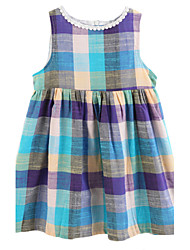 Girl's Dress,Cotton Summer Multi-color