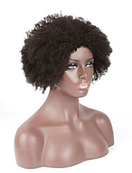 7A Kinky Curly Natural Color Machine Made Wigs Virgin European Human Hair Wigs With Baby Hair For Black Women