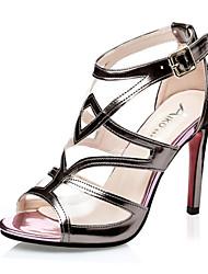 Women's Shoes Stiletto Heel Heels / Peep Toe / Gladiator / Open Toe Sandals Dress Silver / Gold / Champagne