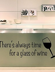 Wineglass Kitchen Decorative Creative Fashion High Quality Hot Selling Wall Stickers Removable Waterproof Pvc Art