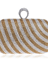 Women Metal Minaudiere Evening Bag-Gold / Black / Multi-color