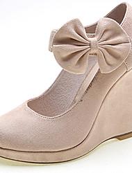 Chaussures Femme-Habillé / Décontracté / Soirée & Evénement-Noir / Gris / Amande-Talon Compensé-Talons / A Plateau-Talons-Velours