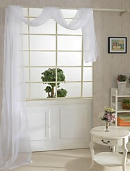 82cm*550cm,One Panel Country Solid As Per Picture Living Room Polyester Sheer Curtains Shades