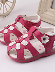Baby Shoes Dress / Casual Leather Sandals Pink / White / Peach