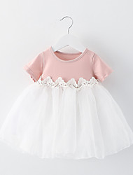 Girl's Big Bow Tulle Tutu Cute Baby Korean Baby Kids Clothing Dresses