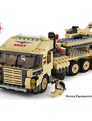 échelle de passe-temps des blocs de construction de modèles de camion lourd garçon de voiture de dessin animé en plastique pour les