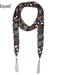 D Exceed Fashion Jewelry Scarves Plaid Chiffon Scarf Necklaces For Women / Lady's Gift Winter 2016 Tassels Scarfs
