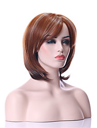 Capless  Mix Color  Middle Long Synthetic Hair Wig with Strips Full Wigs