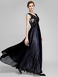 Lanting Bride® Sheath / Column Mother of the Bride Dress Ankle-length Sleeveless Chiffon / Lace with Lace / Criss Cross