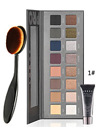 LORAC Palette 16 Colors Luminous Eye shadow Palette With Eye Primer +1PCS Masterclass Oval Foundation Makeup Brush