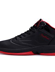 Черный Синий Черный и красный-Мужской-Для прогулок Повседневный Для занятий спортом-Микроволокно-На плоской подошве-Удобная обувь С