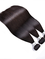 "3pcs/Lot 8""-30"" Brazilian Virgin Hair Color #1B Straight Human Hair Extensions Hair Weaves Bundles Thick & Soft"