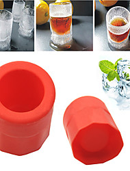 1 Cup Shape Rubber Shooters Ice Cube Shot Glass Freeze Mold Maker Tray Party