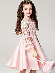 Robe Fille de Polyester Eté Rose