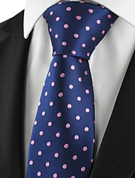 Cravate(Bleu / Rose,Polyester)A Pois