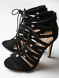 Women's Shoes Stiletto Heel Heels / Gladiator / Styles Sandals / Heels  Party & Evening / Dress / Casual Black