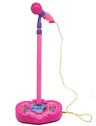 Plastic Pink / Purple Toy Microphone  With Bracket Random Music Toy