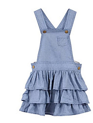 Girl's Dress,Cotton Fall / Spring Blue