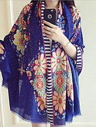 Beach Cotton Scarves Spring And Summer Sun Oversized Sunflowers Shawl Seaside Scarf