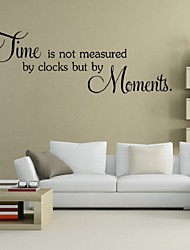 Time Is Not Measured By Clocks But By Moments Wall Decals Vinyl Stickers Home Decor Living Room Decoration