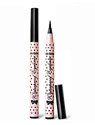 1pcs preto duradoura&impermeável forro do olho lápis delineador maquiagem líquido não florescendo desgaste fácil