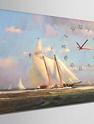 E-HOME® Sailing On The Sea Clock in Canvas 1pcs